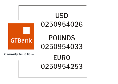 Guaranty Trust Bank Plc (Domiciliary) - USD 0250954026 POUNDS 0250954033 EURO 0250954253