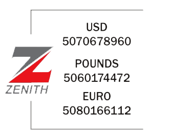 Zenith Bank Plc (Domiciliary) - USD 5070678960 POUNDS 5060174472 EURO 5080166112